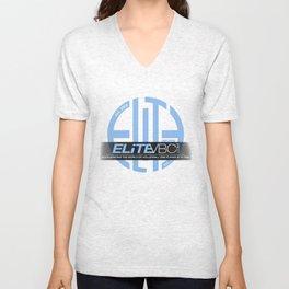 Elite Powder/Black w/ Badge Logo Unisex V-Neck