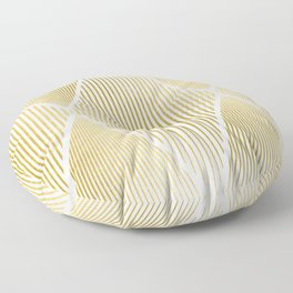 Folded Gold Floor Pillow