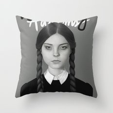 Wednesday Addams Throw Pillow