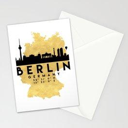 BERLIN GERMANY SILHOUETTE SKYLINE MAP ART Stationery Cards