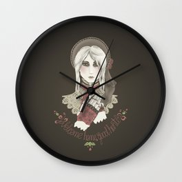 Welcome home good hunter Wall Clock