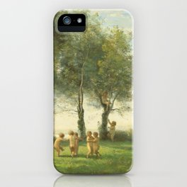 "Jean-Baptiste-Camille Corot ""Ronde D'Amours; Lever du Soleil"" iPhone Case"