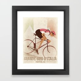 Giro D'Italia Cycling Race Italian Grand Tour Framed Art Print