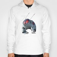 insect Hoodies featuring Large Insect by Glenn Melenhorst