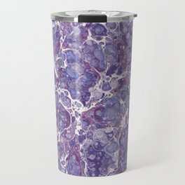 Amethyst Stone Watercolor Texture Travel Mug