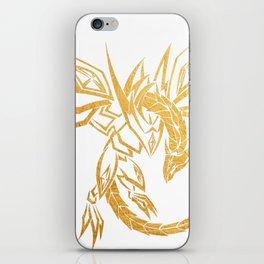 Dragon Skeleton Gold Geometric Art iPhone Skin