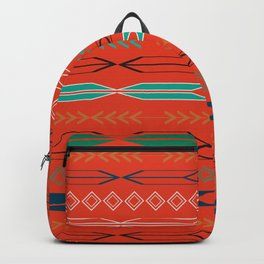 Navajo motifs in red Backpack