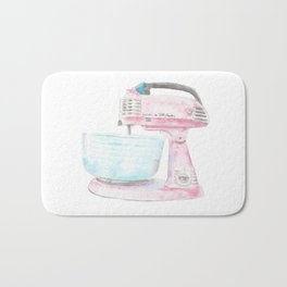 Vintage Mixer Watercolor Bath Mat