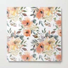 Peachy Keen Pattern Metal Print