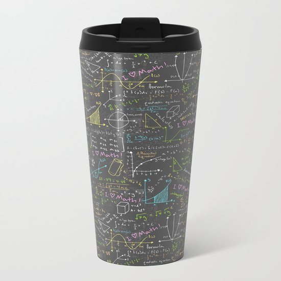 Math Lessons Metal Travel Mug