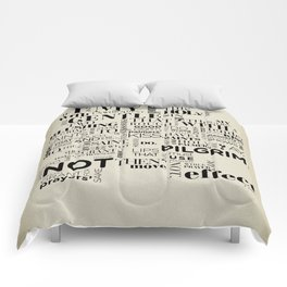 Romeo & Juliet typographic composition Comforters