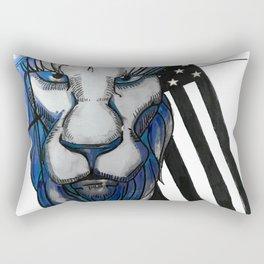 Bold as the Lion Rectangular Pillow
