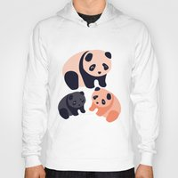 pandas Hoodies featuring Somos Pandas by Pamku