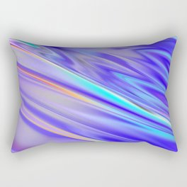 Chrome cool pattern blue purple silver Rectangular Pillow