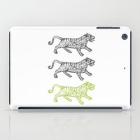tigers iPad Cases featuring Three Tigers by YAP9