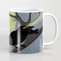 crow Mugs featuring Crow by Nir P