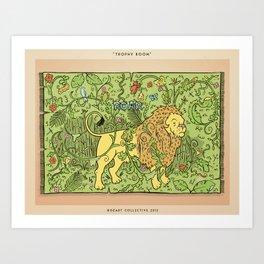Lion Tapestry Art Print