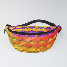 dp001-1 colorful heart digital painting Fanny Pack
