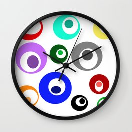 Cirlces within Circles Wall Clock