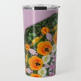 Tulips Nature, Flower-Mandala Travel Mug