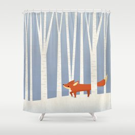 Fox in the Snow Shower Curtain