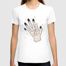 Sleight of Hand Womens Fitted Tee White MEDIUM