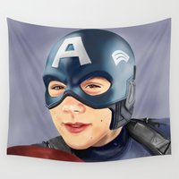 dylan Wall Tapestries featuring Captain Dylan by Finduilas