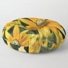 Golden Yellow Floor Pillow