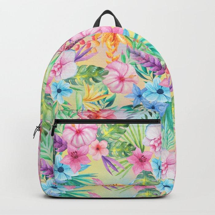 Wispy Summer Floral Backpack