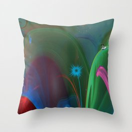 Down Goes Alice Throw Pillow