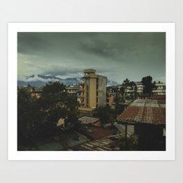 Kathmandu City Roof Top 001 Art Print
