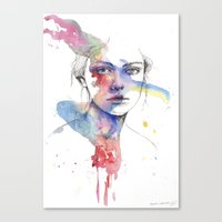 inspiration Canvas Prints featuring Inspiration by Tsukiko-Kiyomidzu