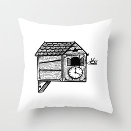 Cuckoo-oh. Throw Pillow