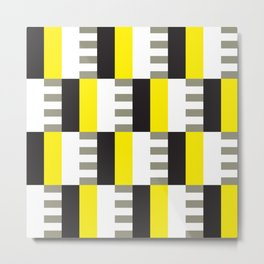 Geometric Pattern #38 (mid-century yellow) Metal Print