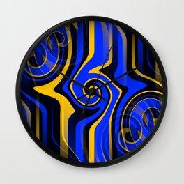 Regal Blues Abstract Wall Clock