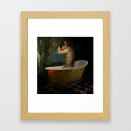 male nude Framed Art Print