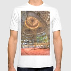 The Blue Mosque Istanbul Mens Fitted Tee White MEDIUM