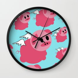 A Pig Inside A Human Body. Wall Clock