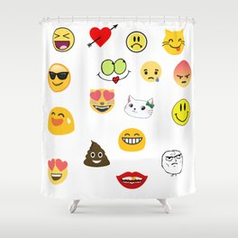 Emoji Collage 11 Shower Curtain