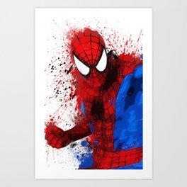 """Spider-Man"" Splatter Art Art Print"