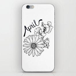 April Birth Flowers iPhone Skin