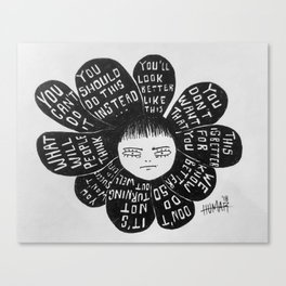 Negative Bloomer/Positive Bloomer Canvas Print