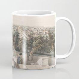 Vintage Pictorial Map of Washington DC (1849) Coffee Mug