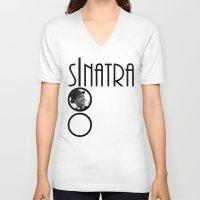frank sinatra V-neck T-shirts featuring Sinatra 100th Birthday by EmeraldSora