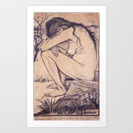 Sorrow by Vincent van Gogh, 1882 Art Print
