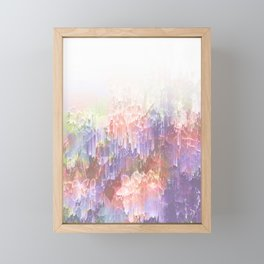 Frozen Magical Nature - Peach and Ultra-Violet Framed Mini Art Print
