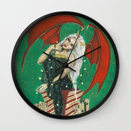 Naughty Or Nice Christmas Demon Wall Clock