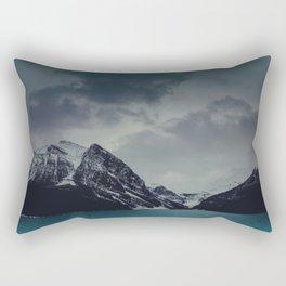 Lake Louise Winter Landscape Rectangular Pillow
