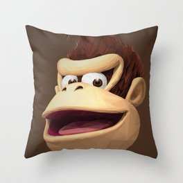 Triangles Video Games Heroes - Donkey Kong Throw Pillow