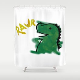 The Little Dinosaur Shower Curtain